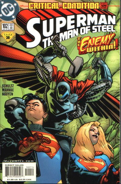 Cover for Superman: The Man of Steel (DC, 1991 series) #102