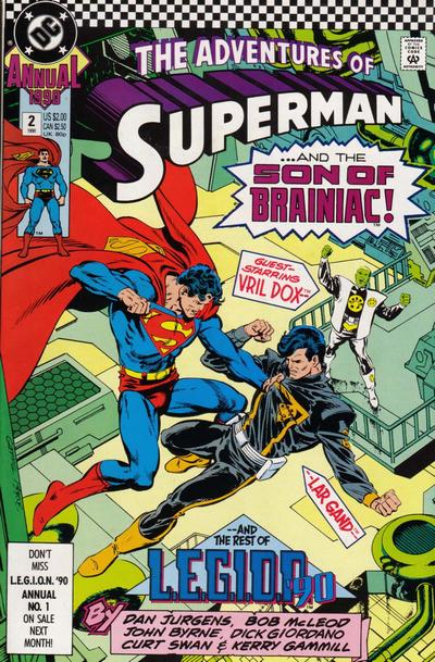 Cover for Adventures of Superman Annual (DC, 1987 series) #2