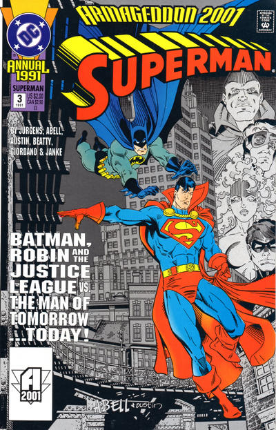 Cover for Superman Annual (DC, 1987 series) #3 [Newsstand Edition]