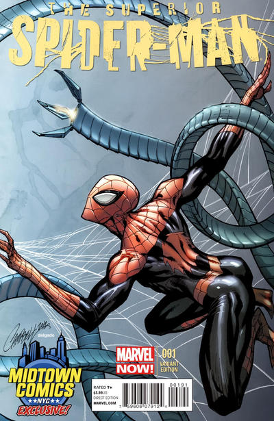Cover for Superior Spider-Man (Marvel, 2013 series) #1 [Ed McGuinness Design Variant Cover]