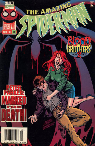 Cover for The Amazing Spider-Man (1963 series) #411 [Newsstand Edition]