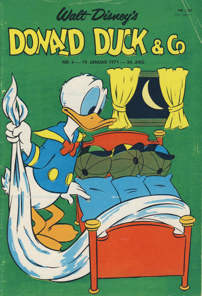 Cover for Donald Duck & Co (Hjemmet, 1948 series) #4/1971
