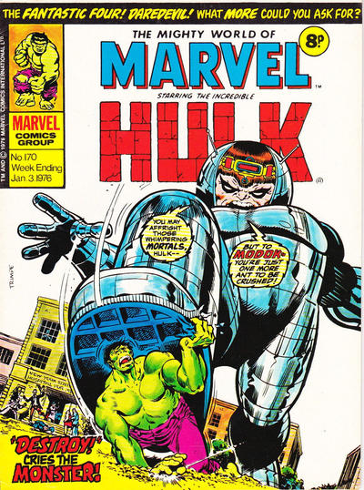 Cover for The Mighty World of Marvel (Marvel UK, 1972 series) #170