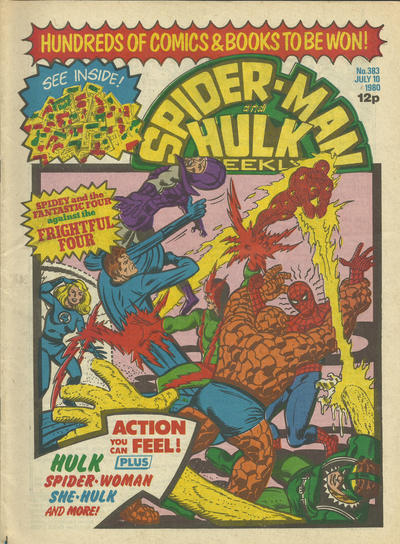Cover for Spider-Man and Hulk Weekly (Marvel UK, 1980 series) #383