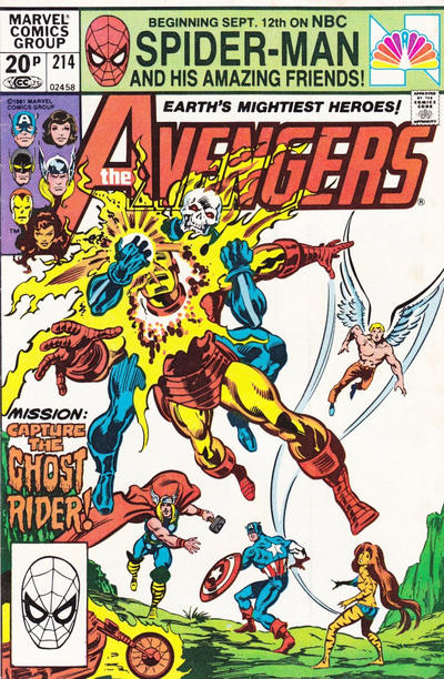 Cover for The Avengers (1963 series) #214