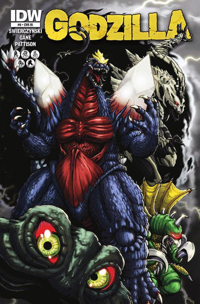 Cover for Godzilla (IDW, 2012 series) #9 [Retailer incentive]