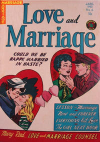 Cover Thumbnail for Love and Marriage (Superior Publishers Limited, 1952 series) #6