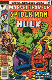 Cover Thumbnail for Marvel Team-Up (Marvel, 1972 series) #53 [British price variant]