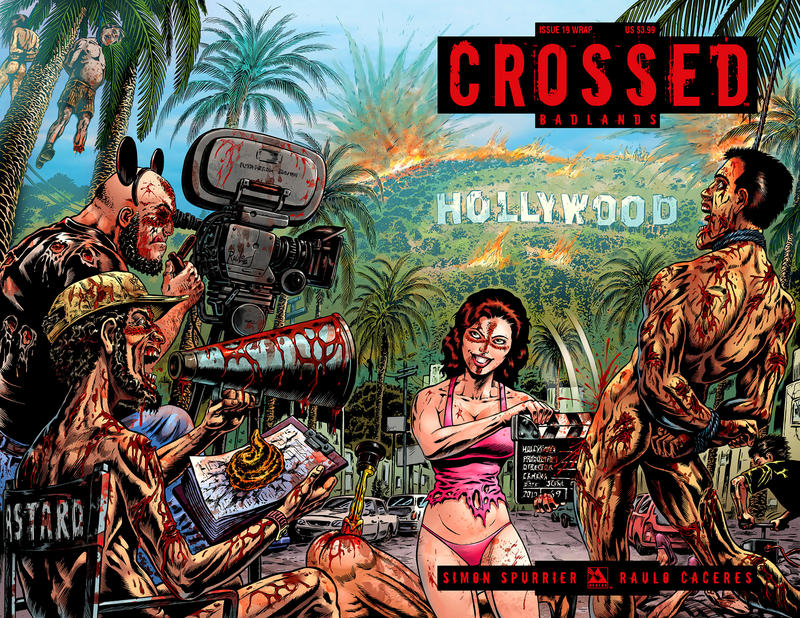 Cover for Crossed Badlands (2012 series) #19 [Wraparound Variant Cover by Raulo Caceres]