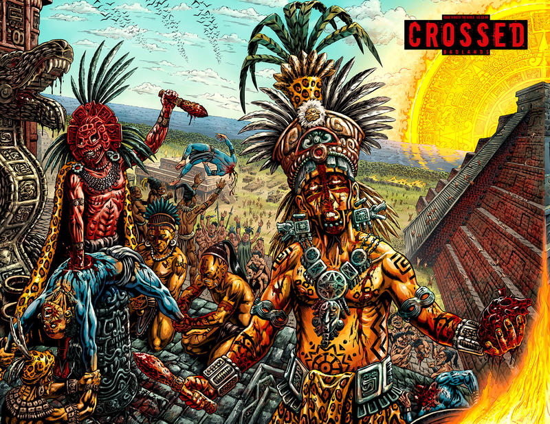 Cover for Crossed Badlands (Avatar Press, 2012 series) #19 [Wraparound Variant Cover by Raulo Caceres]