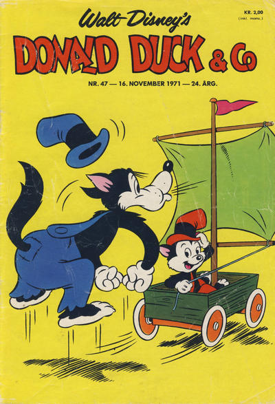 Cover for Donald Duck & Co (Hjemmet, 1948 series) #47/1971