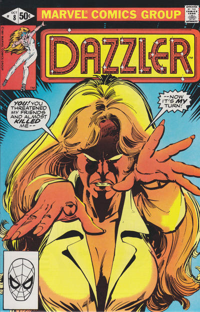 Cover for Dazzler (Marvel, 1981 series) #8