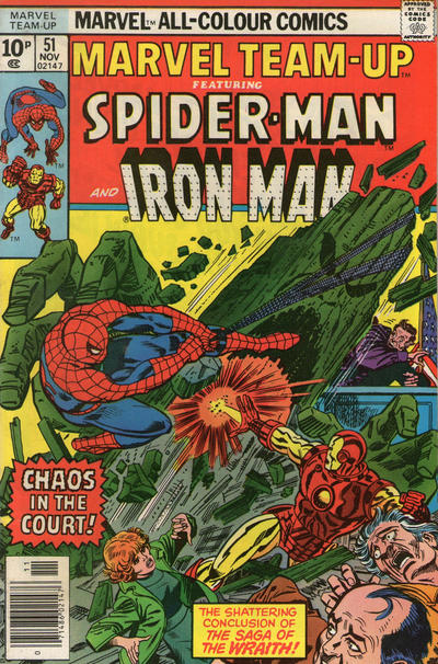 Cover for Marvel Team-Up (Marvel, 1972 series) #51 [British price variant]
