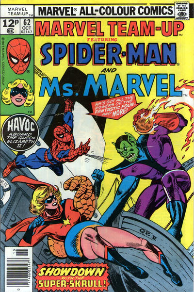 Cover for Marvel Team-Up (Marvel, 1972 series) #62 [British price variant.]