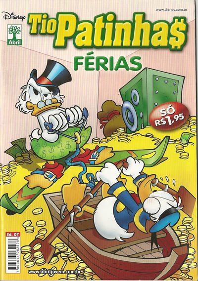 Cover for Tio Patinhas Férias (Editora Abril, 2008 series) #7