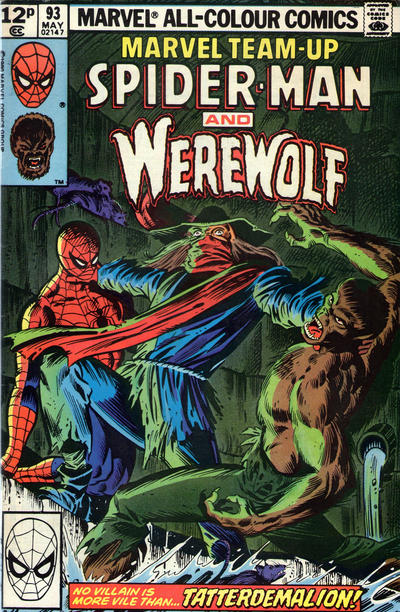 Cover for Marvel Team-Up (Marvel, 1972 series) #93 [British price variant.]