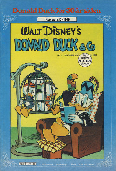 Cover for Donald Duck for 30 år siden (1978 series) #10/1979