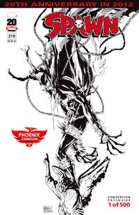 Cover Thumbnail for Spawn (Image, 1992 series) #219 [Phoenix Comicon Exclusive Variant by Michael Golden and Todd McFarlane]