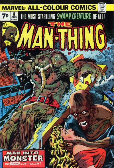 Cover for Man-Thing (Marvel, 1974 series) #8 [British price variant.]
