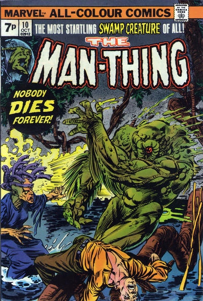 Cover for Man-Thing (Marvel, 1974 series) #10 [British price variant.]