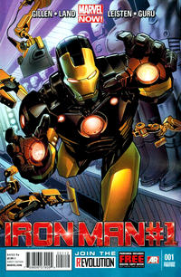 Cover Thumbnail for Iron Man (Marvel, 2013 series) #1 [2nd Printing]