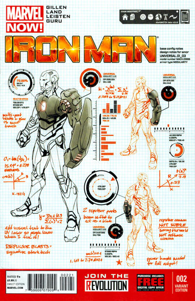 Cover for Iron Man (Marvel, 2013 series) #2