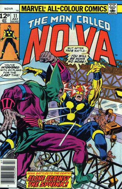 Cover for Nova (1976 series) #11 [British]