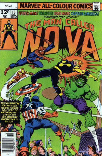 Cover for Nova (Marvel, 1976 series) #15