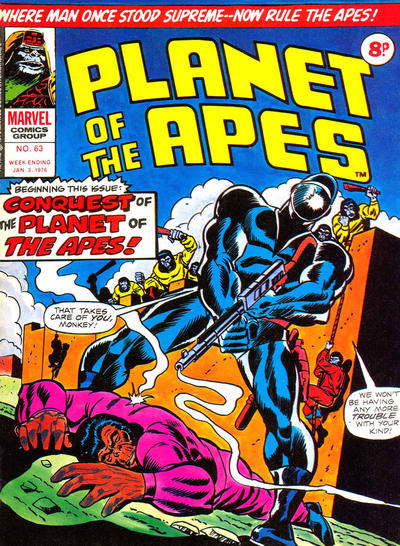 Cover for Planet of the Apes (Marvel UK, 1974 series) #63