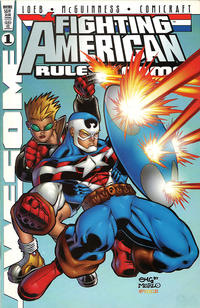 Cover Thumbnail for Fighting American: Rules of the Game (Awesome, 1997 series) #1 [McGuinness Cover]