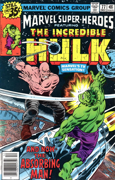 Cover for Marvel Super-Heroes (Marvel, 1967 series) #77 [Newsstand Edition]