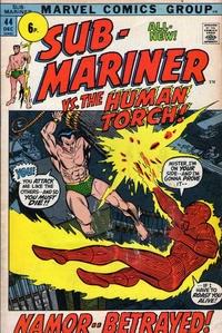 Cover Thumbnail for Sub-Mariner (Marvel, 1968 series) #44 [British price variant.]