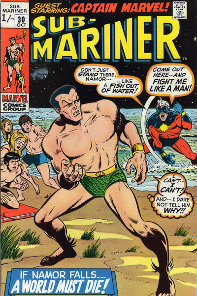 Cover for Sub-Mariner (1968 series) #30 [British price variant.]