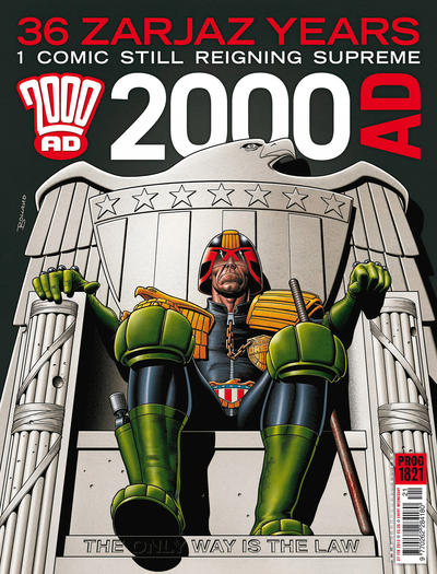 Cover for 2000 AD (Rebellion, 2001 series) #1821