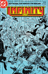 Cover for Infinity, Inc. (DC, 1984 series) #12