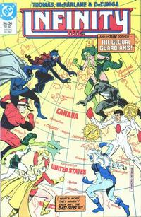 Cover Thumbnail for Infinity, Inc. (DC, 1984 series) #34