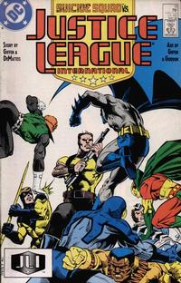 Cover Thumbnail for Justice League International (DC, 1987 series) #13 [Direct Edition]