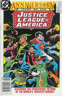 Cover Thumbnail for Justice League of America (DC, 1960 series) #250 [Newsstand]