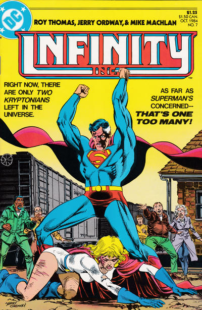 Cover for Infinity, Inc. (DC, 1984 series) #7