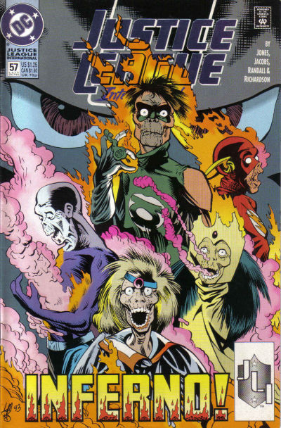Cover for Justice League International (DC, 1993 series) #57