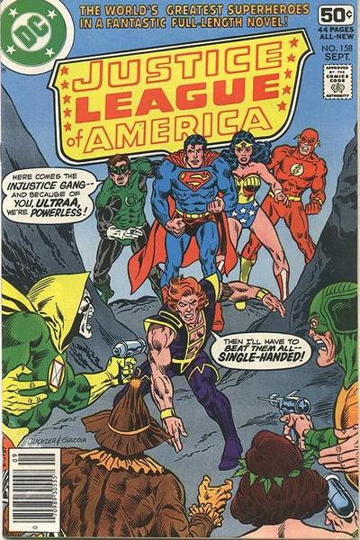 Cover for Justice League of America (DC, 1960 series) #158 [Whitman cover]