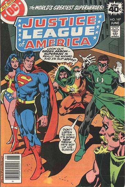 Cover for Justice League of America (DC, 1960 series) #167 [Whitman Variant]