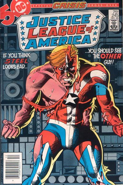 Cover for Justice League of America (1960 series) #245 [Direct Sales (Comic Book Stores)]