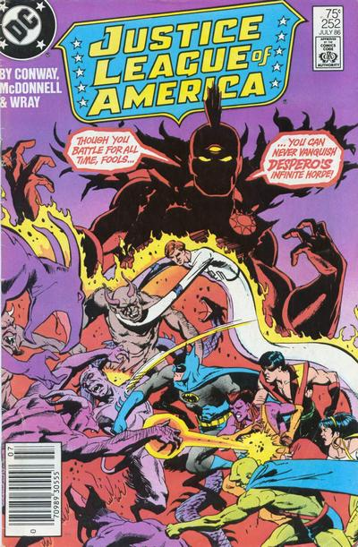 Cover for Justice League of America (DC, 1960 series) #252
