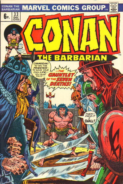 Cover for Conan the Barbarian (Marvel, 1970 series) #33 [British Price Variant]