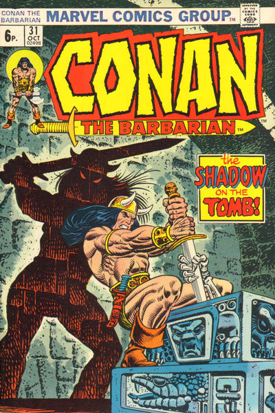 Cover for Conan the Barbarian (Marvel, 1970 series) #31 [British Price Variant]