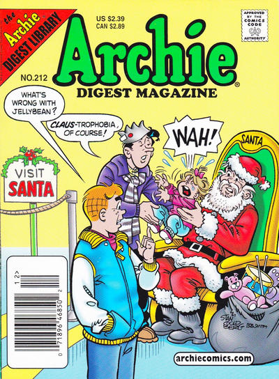 Cover for Archie Comics Digest (1973 series) #212