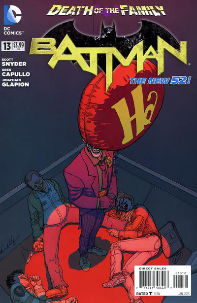 Cover for Batman (DC, 2011 series) #13 [Greg Capullo Die-Cut Cover]