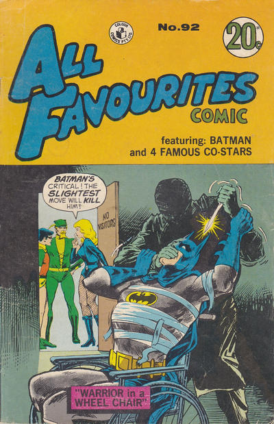 Cover for All Favourites Comic (K. G. Murray, 1960 series) #92
