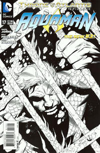 Cover Thumbnail for Aquaman (DC, 2011 series) #17 [Black & White Variant Cover by Paul Pelletier]
